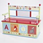 Levels of Discovery CoCaLo Baby Alphabet Soup Toy Box Bench