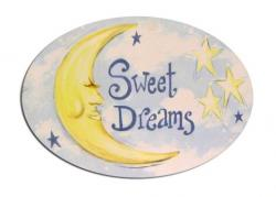 Oval Room Plaque With Ribbon- Sweet Dreams