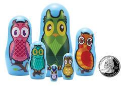 The Original Toy Company Owl Micro Matryoshka's
