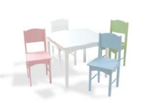 KidKraft Nantucket Table And 4 Pastel Chair Set