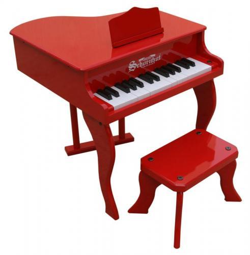 Schoenhut 30 Key Fancy Baby Grand Piano Red