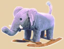 Plush Elephant Rocker