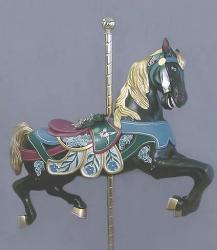 Broad Billed Jumper Black Carousel Horse