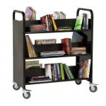 Guidecraft Book Truck Black