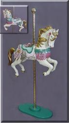 Treasure Mauve/Seafoam Carousel Horse