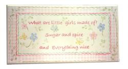 Room Plaque With Ribbon- Sugar And Spice