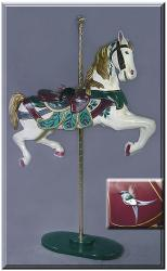 Broad Billed Jeweltone Carousel Horse