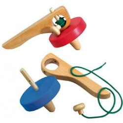 The Original Toy Company Hand Spinning Top (Red)