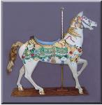 Elegant Stander Citrus Carousel Horse