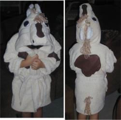 Cream Horse Bath Robe