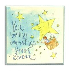 Room Plaque With Ribbon- You Bring Blessings From Above
