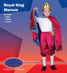 Dress Up America Royal King - Maroon - Small 4-6
