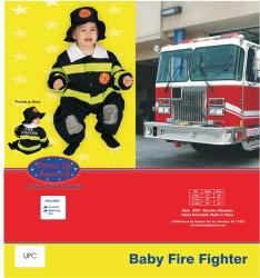 Dress Up America Baby Fire Fighter - 0-9m