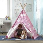 Merry Products Children's Teepee, Pink Puzzle
