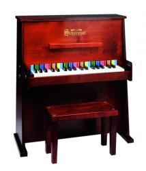 Schoenhut Day Care Durable Spinet  37-Key 3-Octave Piano, Mahogany