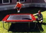 8' x 8' Square Trampoline - Red
