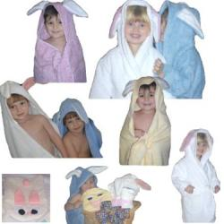 Bunny Critter Hooded Towel