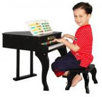 Keys Grandpa Toy Piano  >> 30 Key Fancy Baby Grand Piano Black