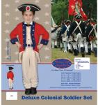 Dress Up America Deluxe Colonial Soldier Set - Small 4-6