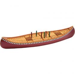 Outside-Inside Canoe Cribbage Board