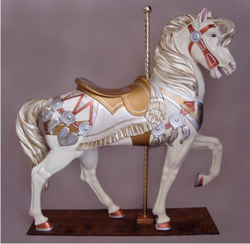 Royal Stander Gold Silver Carousel Horse
