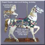 Elegant Stander Gold/Silver Carousel Horse