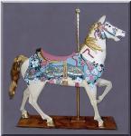 Elegant Stander Pastel Carousel Horse