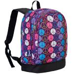 Olive Kids Peace Signs Purple Sidekick Backpack