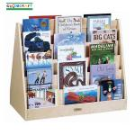 Guidecraft Double Sided 5-Shelf Book Browser with Casters