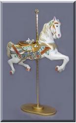 Broad Billed Jumper Gold/Silver Carousel Horse