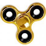 Shiny Gold Metallic Color Fidget Spinner, EDC Bearing