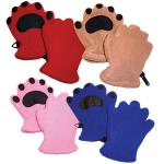 Bearhands Toddler Fleece Mittens, Red
