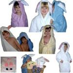 White Bunny Bath Robe