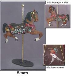 Broad Billed Jumper Brown Carousel Horse