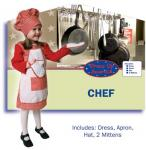 Dress Up America Red Gingham Girl Chef - Toddler T4