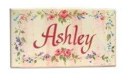 Personalized Room Plaque With Ribbon- Girl